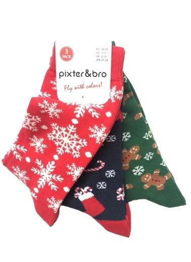 Pixter&Bro Pixter&Bro 3'lü Çorap Renkli